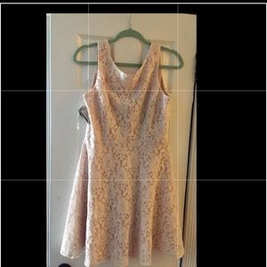 NWT cream lace dress